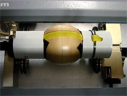 PVC jig for holding a sphere