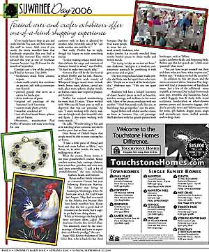 Gwinnett Daily Post Suwanee Day Special Section Article